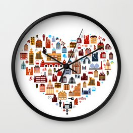 Townhouses Wall Clock