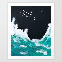 Waves of the Tasman Sea 2 Art Print