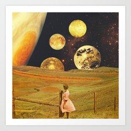 Jupiter field Art Print