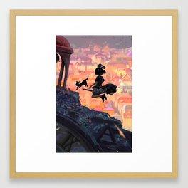 Sunset X KiKi Framed Art Print