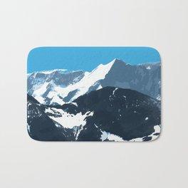 swiss mountains Bath Mat