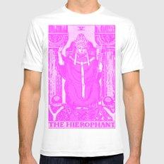 Hierophantsy Mens Fitted Tee MEDIUM White