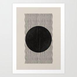 Woodblock Paper Art Art Print