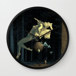 At night in the forest Wall Clock
