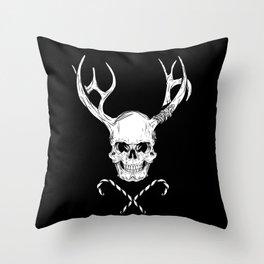 Creepy Xmas Throw Pillow