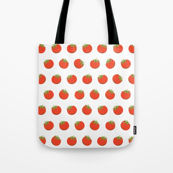 Sweet Red Tomato Picture Pattern Tote Bag