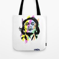 salvador dali Tote Bags featuring Salvador Dali by Art of Fernie