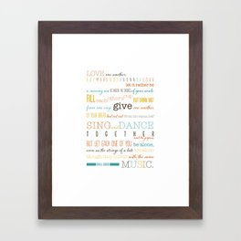 On Marriage: Kahlil Gibran Quote Typography Print Framed Art Print