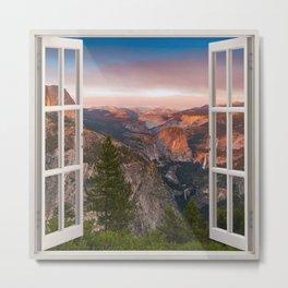 Hills through the window 2 Metal Print