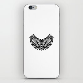 Ruth Bader Ginsburg Dissent Collar iPhone Skin