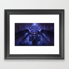 Black Angel Framed Art Print