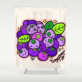 Team Blueberries (Coloured) Shower Curtain
