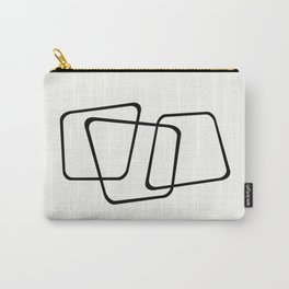Simply Minimal - Black and white abstract Carry-All Pouch