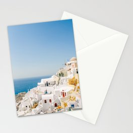 Santorini 0017: White houses in Oia, Santorini, Greece Stationery Cards
