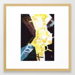 Fissures Framed Art Print