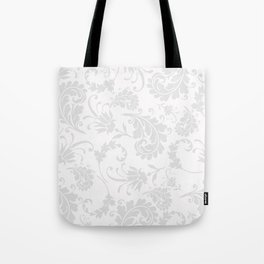 Vintage of white elegant floral damask pattern Tote Bag