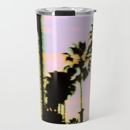 California Dreaming Palm Trees Sunset Travel Mug