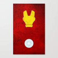 iron man Canvas Prints featuring Iron Man by theLinC