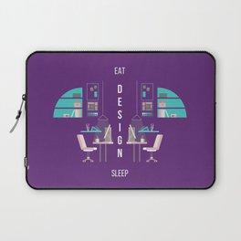 Eat Design Sleep  - Purple Laptop Sleeve