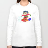 snowboarding Long Sleeve T-shirts featuring Winter Sports: Snowboarding by Alapapaju