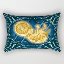 The Golden Fetus Rectangular Pillow