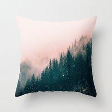 Pink Haze Throw Pillow