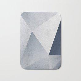 Indigo Minimal Geometry Bath Mat