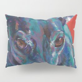 Greyhound on Red Pillow Sham