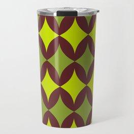 Green diamonds on brown Travel Mug