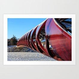 Calgary Peace Bridge in Winter Art Print