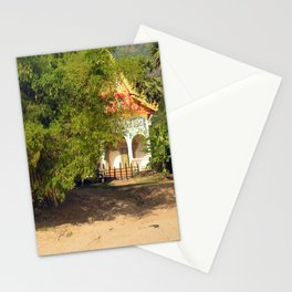 Buddhist Temple on the Mekong River Bank, Laos Stationery Cards