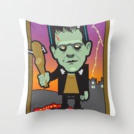 King of Wands Throw Pillow