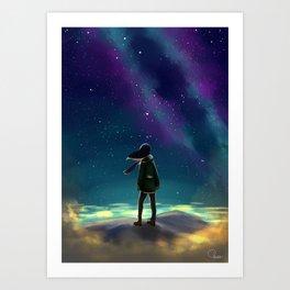 Stargazing Artwork Art Print