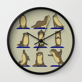 Otter Yoga Wall Clock
