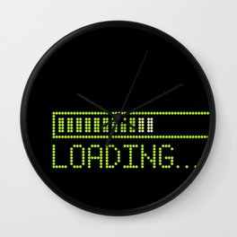 Green Loading Time Bar Wall Clock