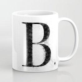 B. - Distressed Initial Coffee Mug