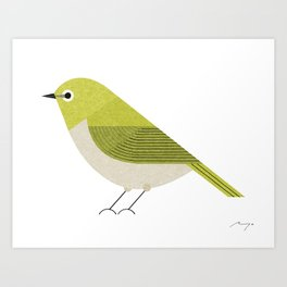 Japanese white-eye Art Print