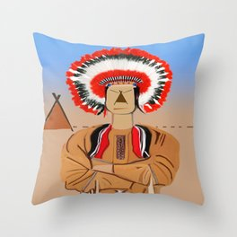 The Indian II Throw Pillow