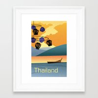 thailand Framed Art Prints featuring Thailand by Shirong Gao