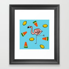 Flamingo Tropical Framed Art Print