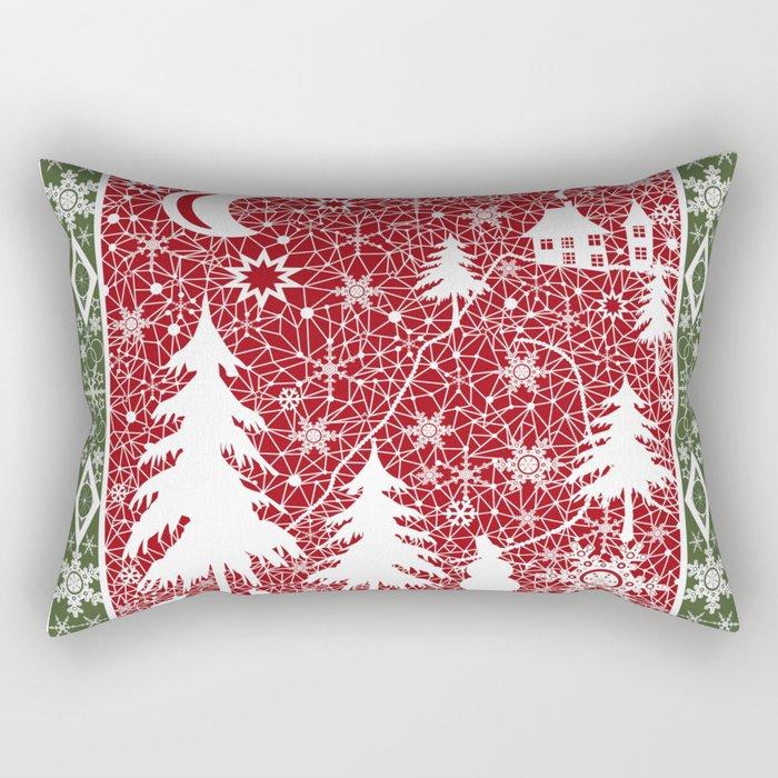Winter. Christmas. Rectangular Pillow