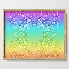 Rainbow Lotus Mandala Serving Tray