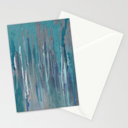 blue sky rain Stationery Cards
