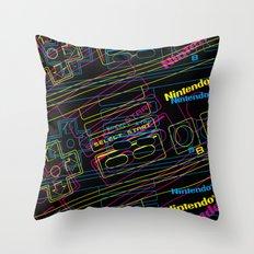 ness control pattern Throw Pillow