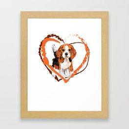 Cute Beagle puppy Framed Art Print