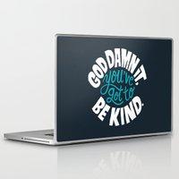 vonnegut Laptop & iPad Skins featuring Be Kind. by Chris Piascik