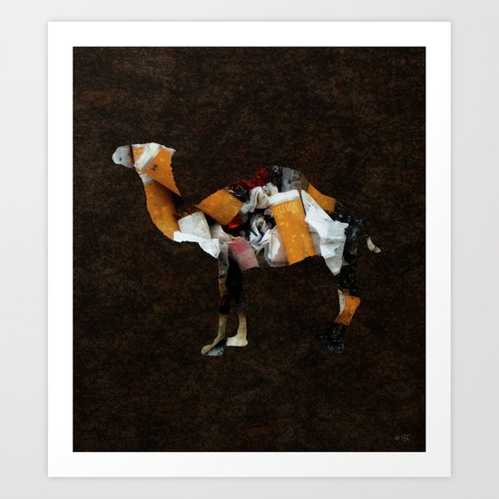 Camel Collage 3 Art Print