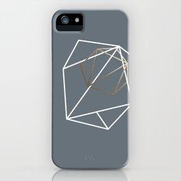 Abelie (White & gold) iPhone Case