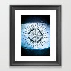 Windrose blue version Framed Art Print