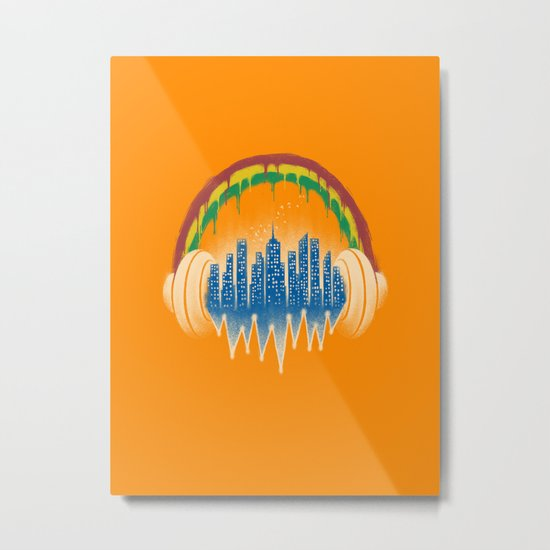 City of music Metal Print